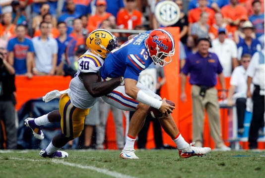 Ncaa Football Louisiana State At Florida