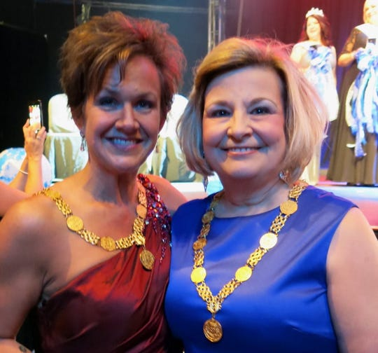 Former Gemini Queens  Shannon Banda and Jan Moran handed out sashes at Gemini Royalty Coronation.