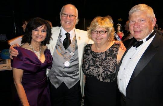 Dr. Marsha and Russ Friedrich, Bess and Bob Elder at Gemini Royalty Coronation.