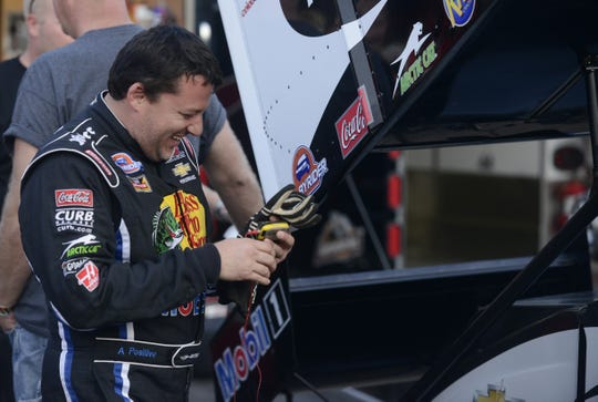 Tony Stewart raced at Huset's during the 2013 season, drawing more than 10,000 people to the track.