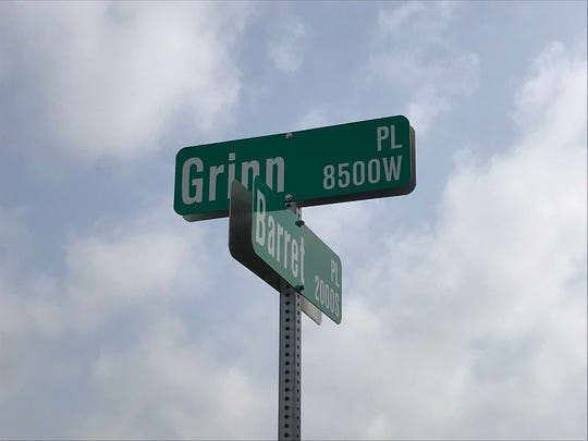 Yes, there's an intersection of Grinn and Barret in west-side Sioux Falls, two of many inventive street names around Sioux Falls.