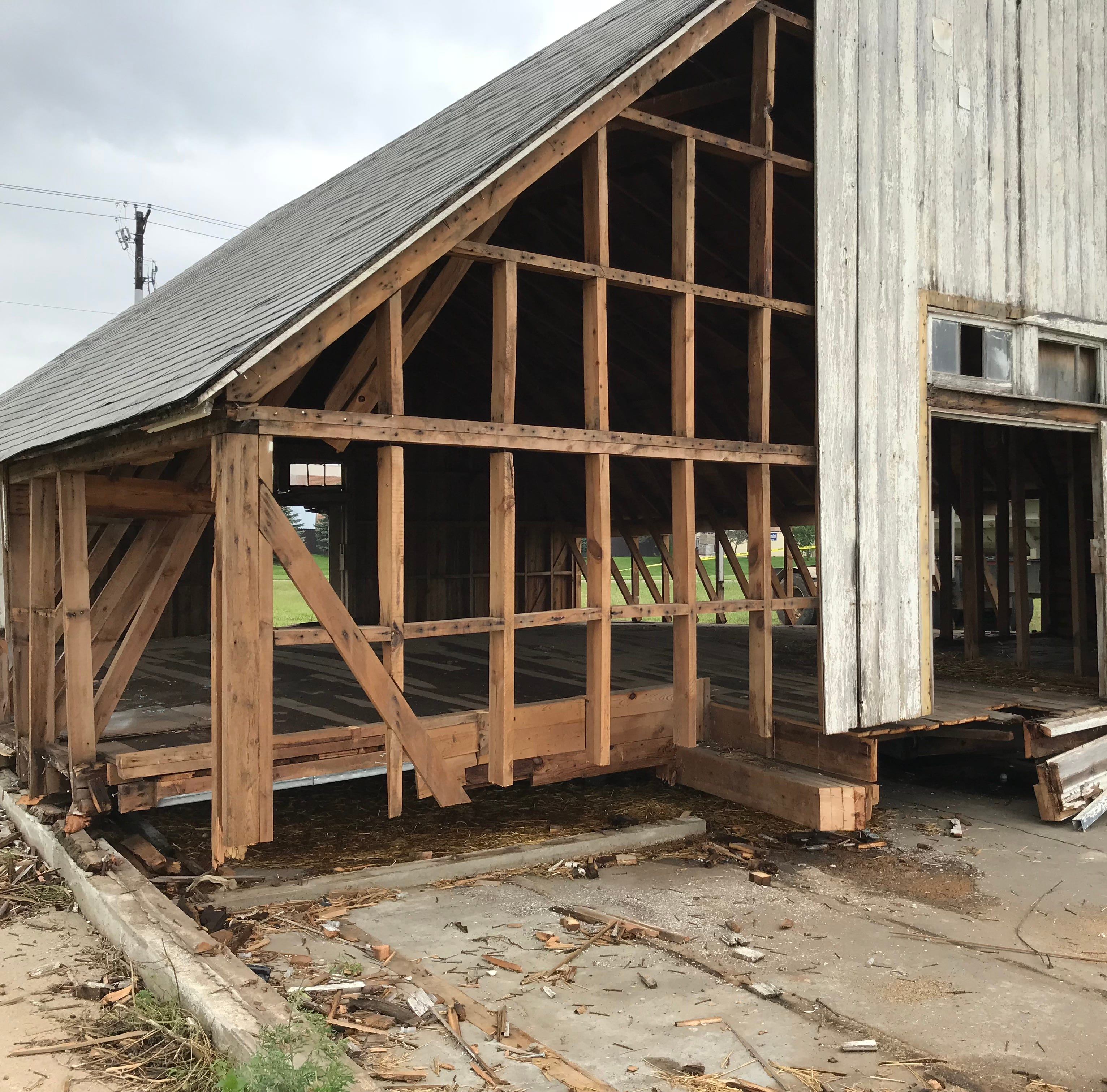Lake Lorraine landmark barn coming down, wood reclaimed for future use