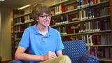 Lincoln High School senior Maximillian Peters talks about his plans going into senior year of high school Tuesday, Aug 21, at Augustana University Mikkelsen Library in Sioux Falls.