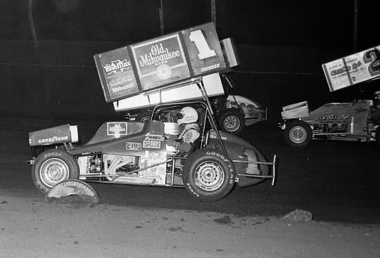 Tennessee's Sammy Swindell won the first World of Outlaws feature race at Huset's in 1983.
