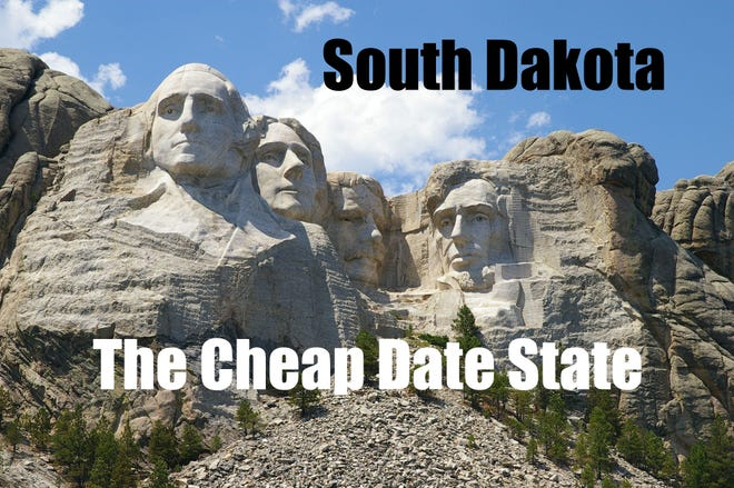 South Dakota has been named the state with the cheapest average date cost, at $38.27.