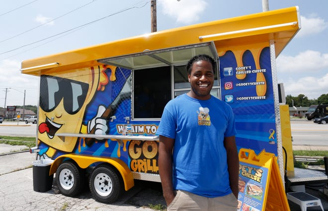 Demetrius Wilson opened Gooey's Grilled Cheese in the SGF Mobile Food Park and has seven grilled-cheese sandwiches on the menu.