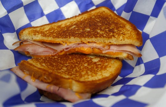 The Ham and Cheese at Gooey's Grilled Cheese in the SGF Mobile Food Park.