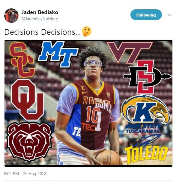 The No. 1 recruit in Canada is considering playing hoops at Missouri State