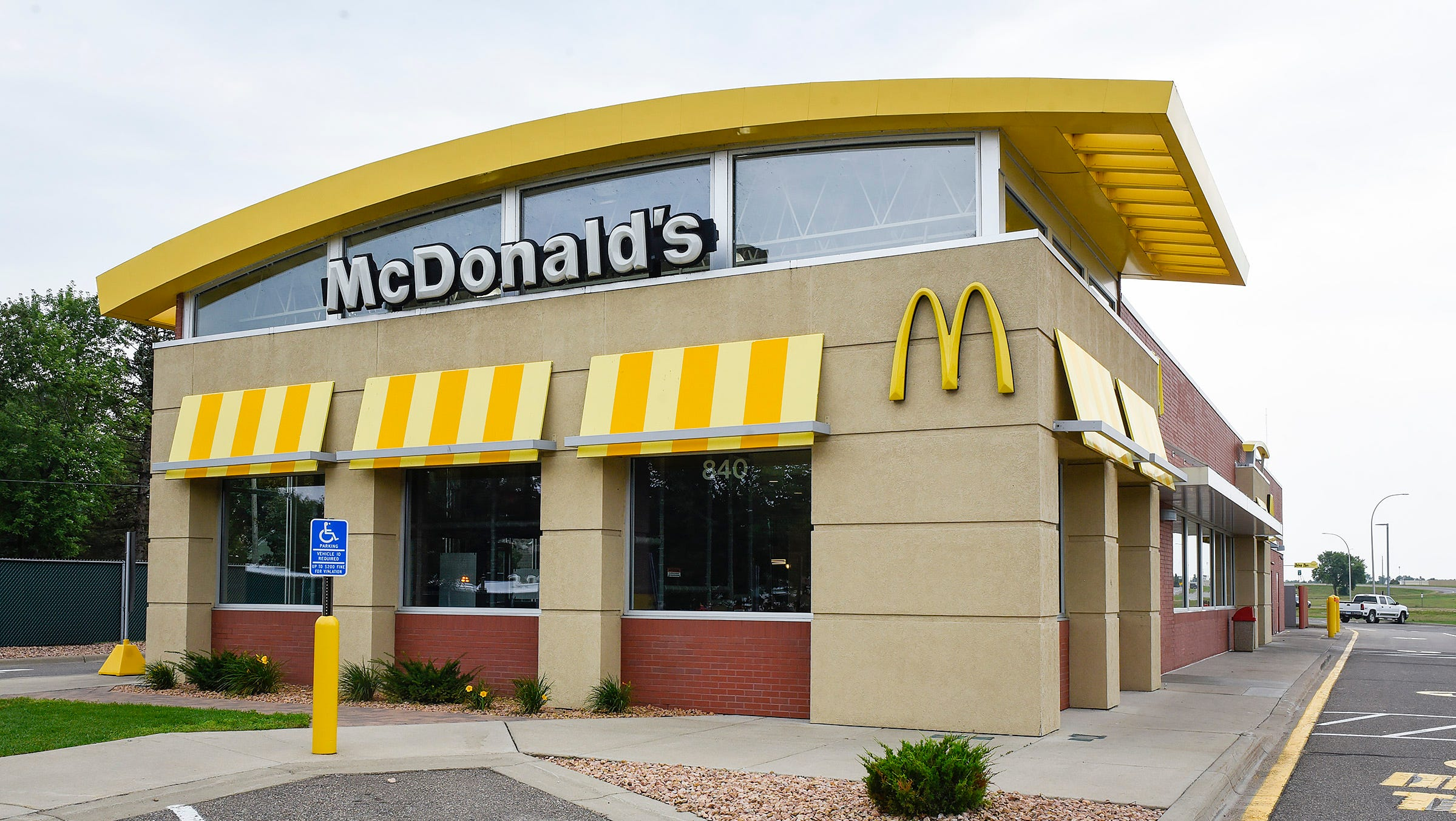 The McDonald's at840 East St. Germain St. in St. Cloud is shown Tuesday, Aug. 2. It has been updated with the corporation's new look.