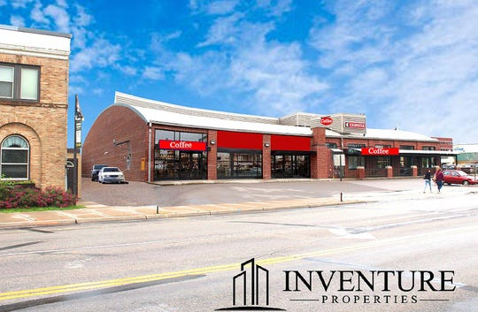 A rendering of retail building at 211 Fifth Ave. S, where a drive-thru coffee shop is expected to open in Spring of 2019.