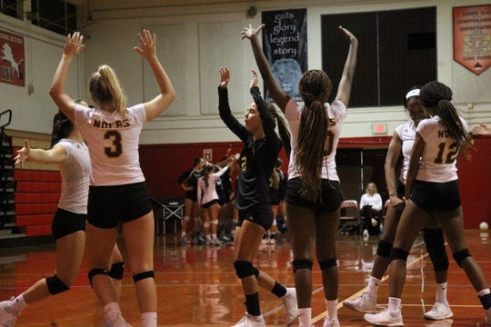 Florida High during Saturday's preseason volleyball classic at Leon.