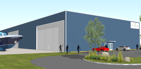The new Hinckley Yacht Services storage building is expected to be ready by next spring and will cost close to $4 million.