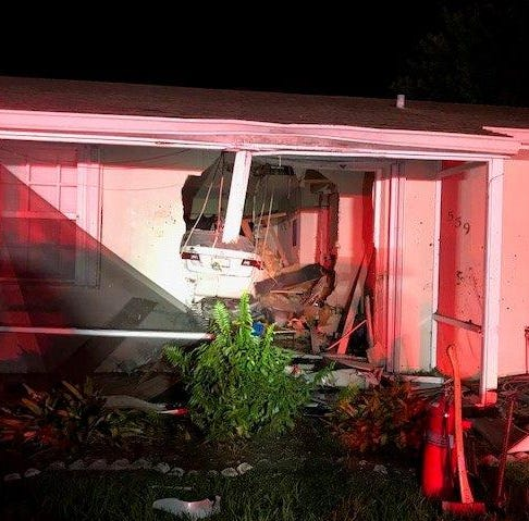 Port St. Lucie man accused of crashing into home, breaking through wall while intoxicated