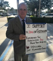 Martin County Commissioner Ed Ciampi showed his support for a Roundup ban, Tuesday.