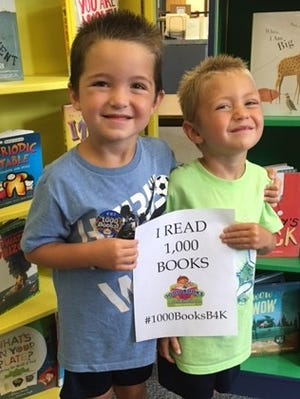 Cumberland County Libraryannounced that Nathanand Mason Sheppard, both 5, from Hopewell, have completed reading 1,000 books and achieved their goal of reading 1,000 Books Before Kindergarten. The boys will start kindergarten this fall. For information on children's programs at the library, call (856) 453-2210, visit www.cclnj.org or stop in at the library at 800 E. Commerce St., in Bridgeton.