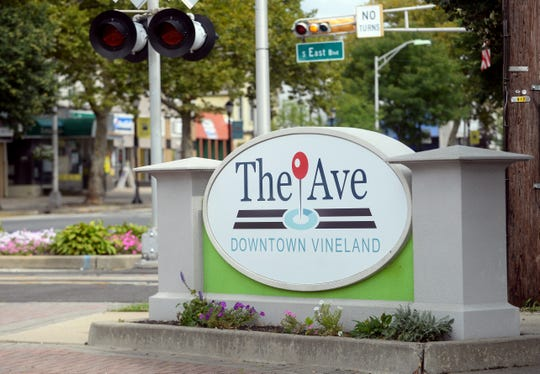 The Ave Downtown Vineland sign pictured here on Tuesday, August 21.