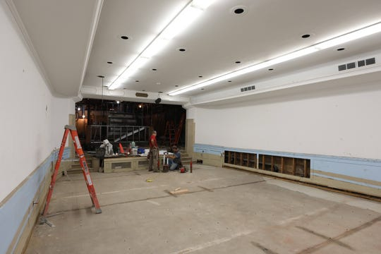 An auditorium being renovated at the new Rockland Community College Hospitality & Culinary Arts Center in Nyack, being constructed on Main Street and Broadway in Nyack, Aug. 21, 2018.