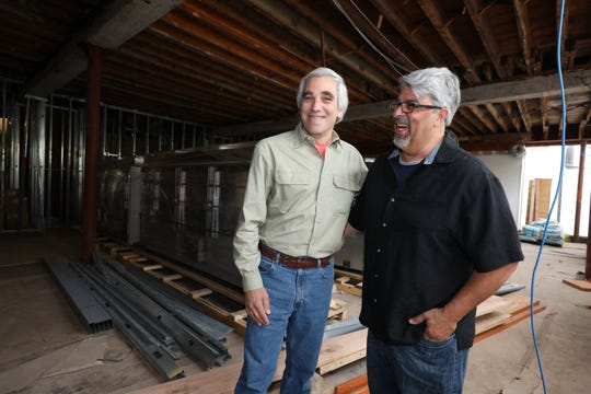 David Kimmel, left, the interim director for the Rockland Community College Hospitality & Culinary Arts Center in Nyack, and Cris Spezial, the department chairperson, are pictured in one of the spaces of the new school being constructed on Main Street and Broadway in Nyack, Aug. 21, 2018.