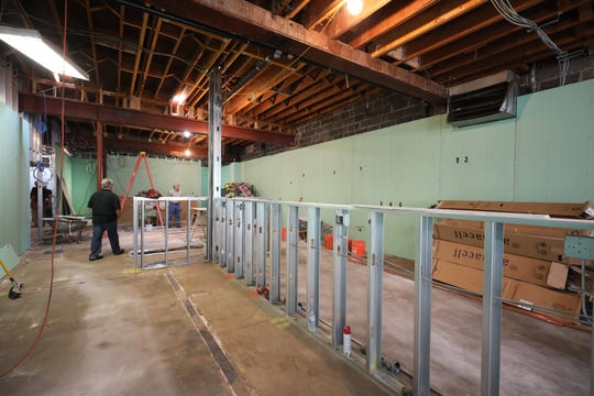 A kitchen area under construction at the new Rockland Community College Hospitality & Culinary Arts Center in Nyack, being constructed on Main Street and Broadway in Nyack, Aug. 21, 2018.