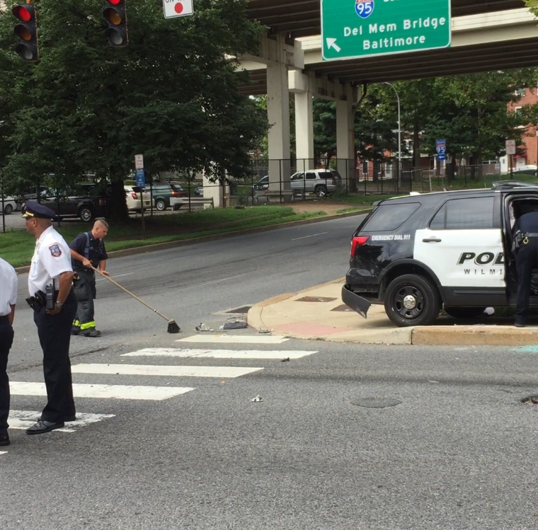 4 injured in crash involving Wilmington Police cruiser on N. Adams and 2nd streets