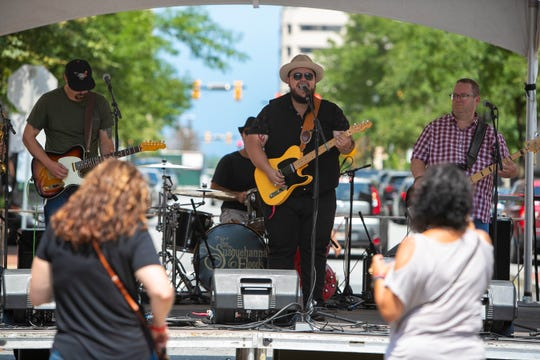 The Susquehanna Floods perform at Downtown Brewfest earlier this month. They will play Weedstock this weekend.