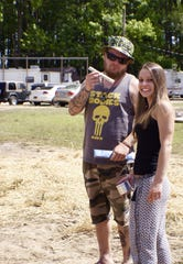Barrett and Anna Thompson attend last year's inaugural Weedstock in Townsend.