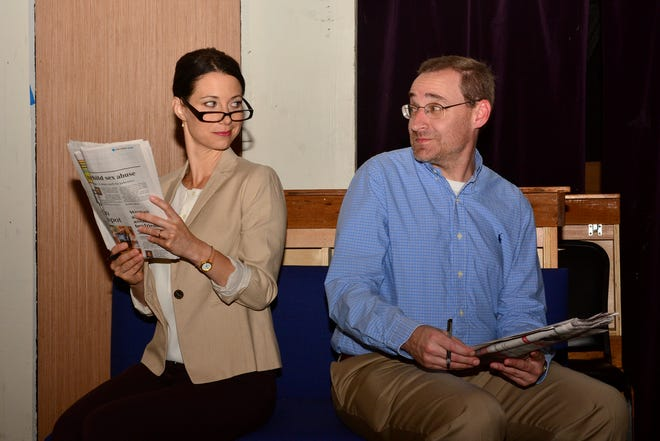 """The very smart romantic comedy that revolves around two people doing the same crossword puzzle,, """"2 Across,"""" opens at 7:30 p.m. tonight and Saturday on the  Backdoor Theatre Dinner Stage."""