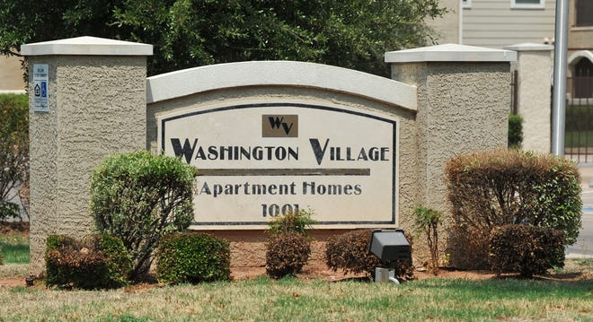 The Washington Village Apartments located in the 1000 block of Redwood Ave.
