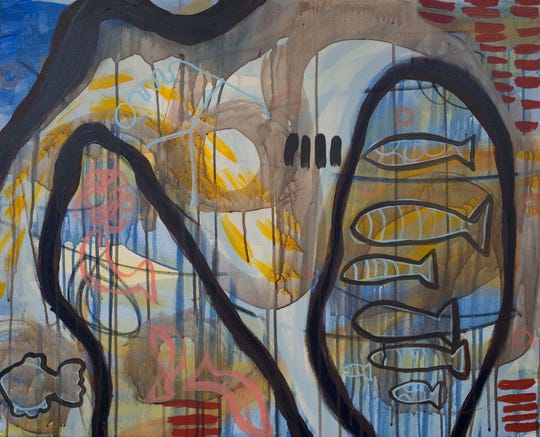 An art exhibit by Melanie Yazzie opens Monday August 27 at The Juanita and Ralph Harvey Art Gallery, Fain Fine Arts Building, Midwestern State University.