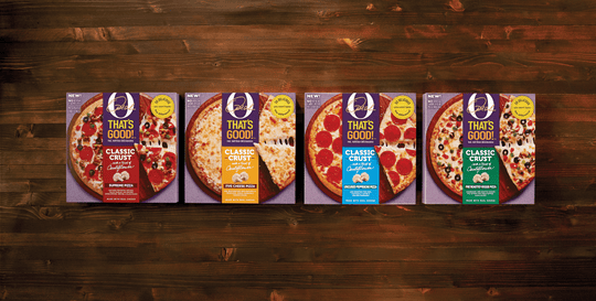 Oprah Winfrey's new line of O, That's Good! frozen pizzas features crusts made with cauliflower.