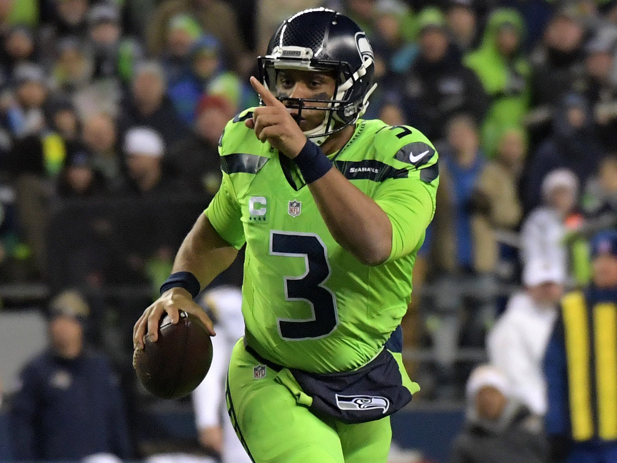 The Seahawks' all-neon green look might be the worst of the 2016 color rush uniforms.