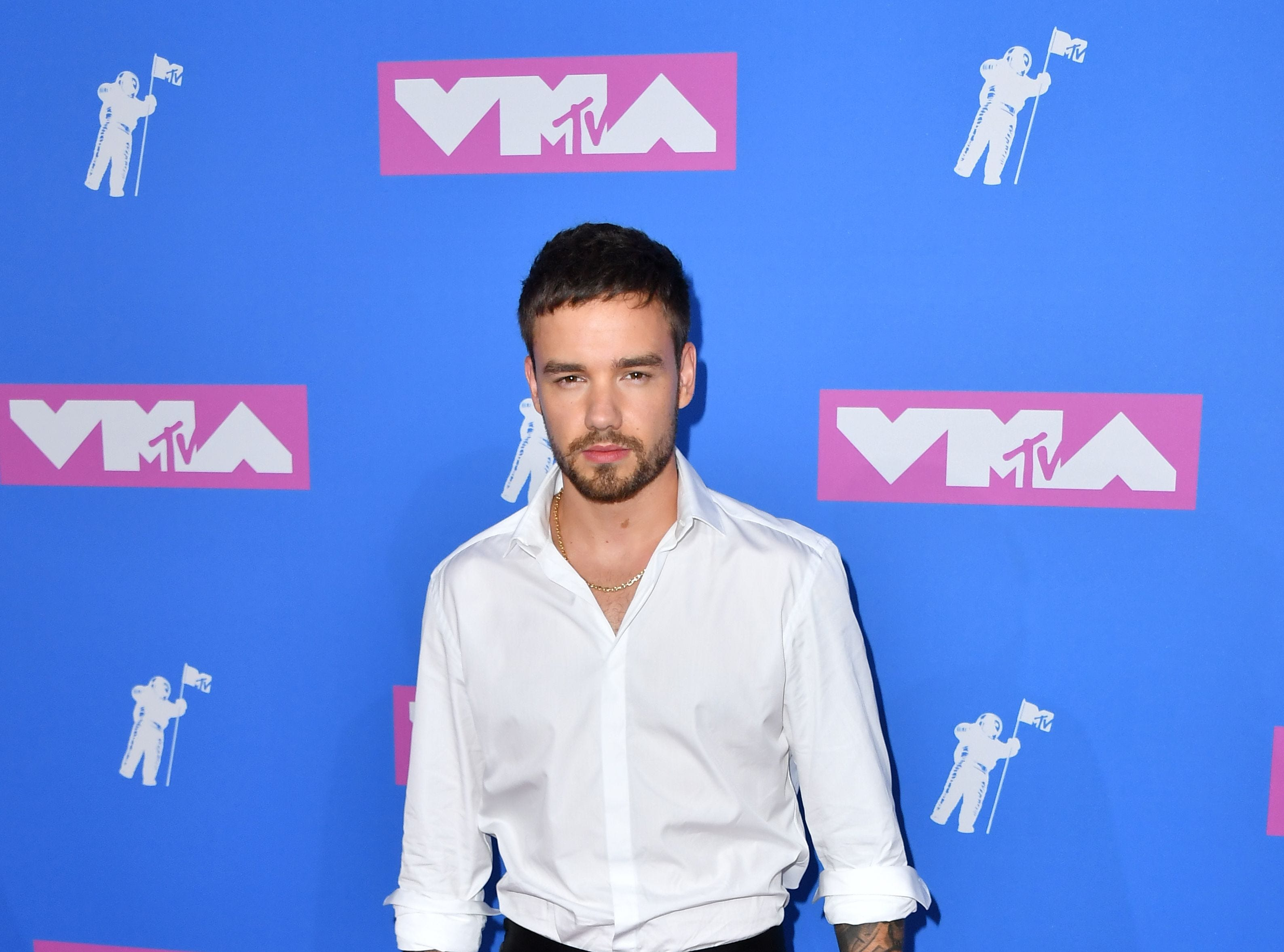 English singer Liam Payne attends the 2018 MTV Video Music Awards at Radio City Music Hall on August 20, 2018 in New York City. (Photo by ANGELA WEISS / AFP)ANGELA WEISS/AFP/Getty Images ORG XMIT: 2018 MTV ORIG FILE ID: AFP_18H8VQ