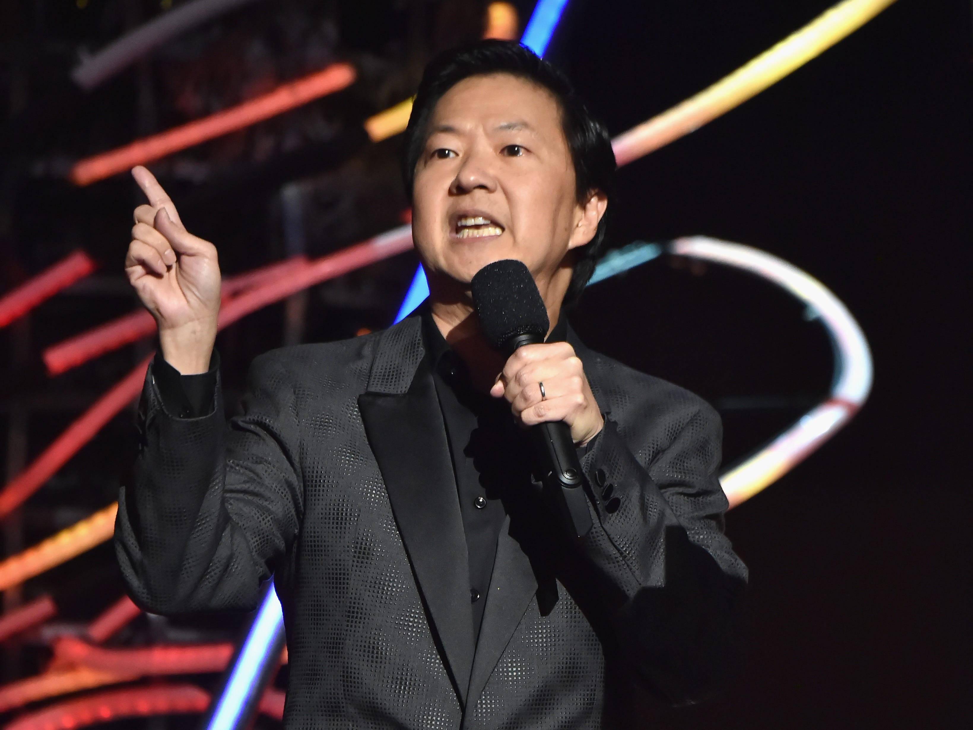 NEW YORK, NY - AUGUST 20:  Ken Jeong speaks onstage during the 2018 MTV Video Music Awards at Radio City Music Hall on August 20, 2018 in New York City.  (Photo by Kevin Mazur/WireImage) ORG XMIT: 775211585 ORIG FILE ID: 1020376446