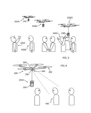IBM has been granted a patent for a coffee drone. These diagrams are part of the application the company filed with the U.S. Patent and Trademark Office.