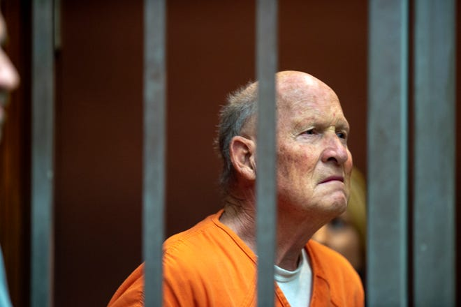 Joseph  DeAngelo appears June 1, 2018, in Sacramento Superior Court in Sacramento. DeAngelo, accused of being the Golden State Killer, will be tried in Sacramento County on more than a dozen murders committed up and down the state that terrorized residents during the 1970s and '80s.