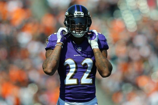 Baltimore Ravens cornerback Jimmy Smith (22) against the Cincinnati Bengals at Paul Brown Stadium.