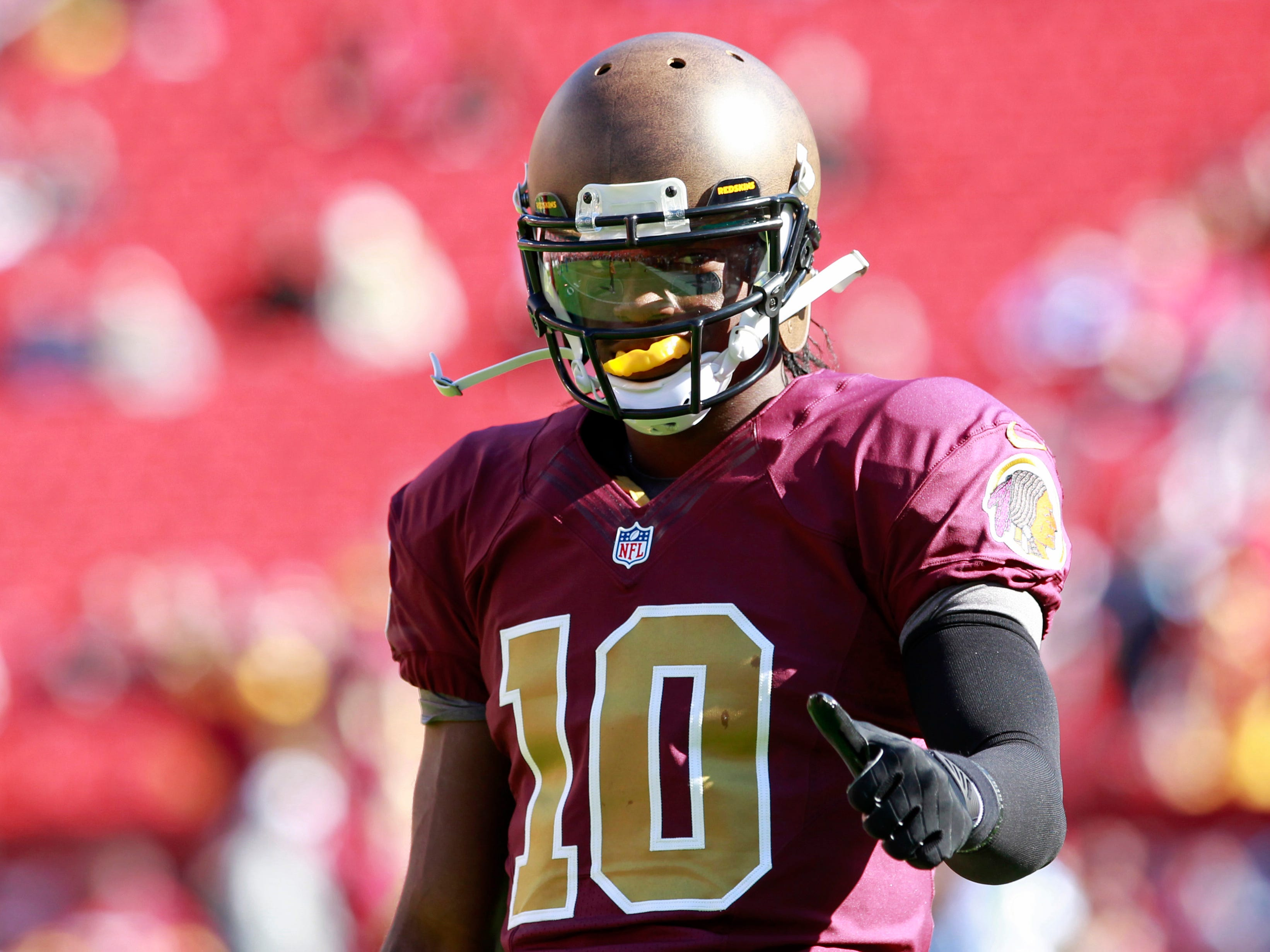 The Redskins' colors are supposed to be burgundy and gold, not lipstick and mustard.