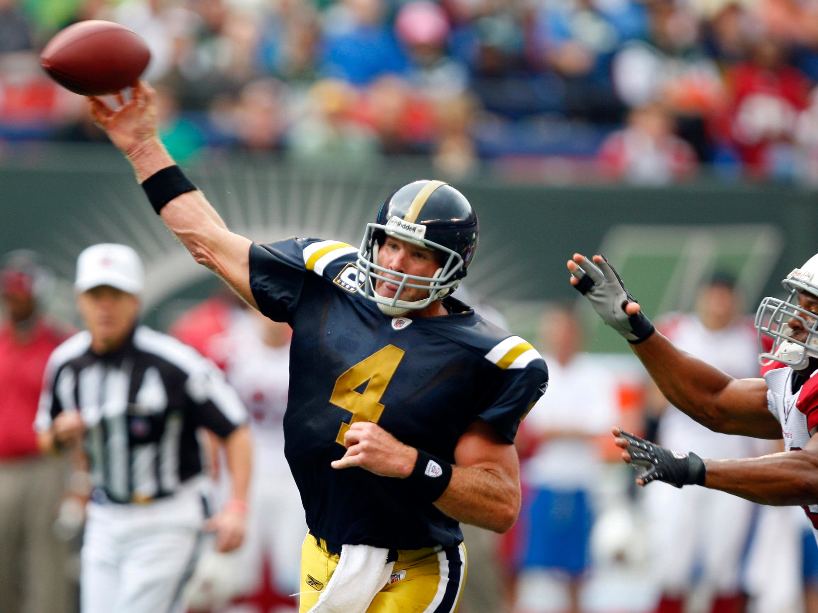 Even Hall of Fame QB Brett Favre couldn't make these Jets uniforms look good. Still to Kelly Green.