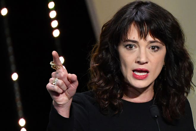 Italian actress Asia Argento on May 19, 2018 at the Cannes Film Festival in Cannes, France.