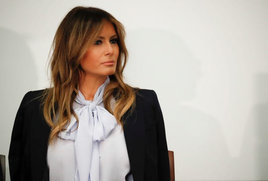 First lady Melania Trump attends the Federal Partners in Bullying Prevention  Summit in Rockville, Md., Aug. 20, 2018.