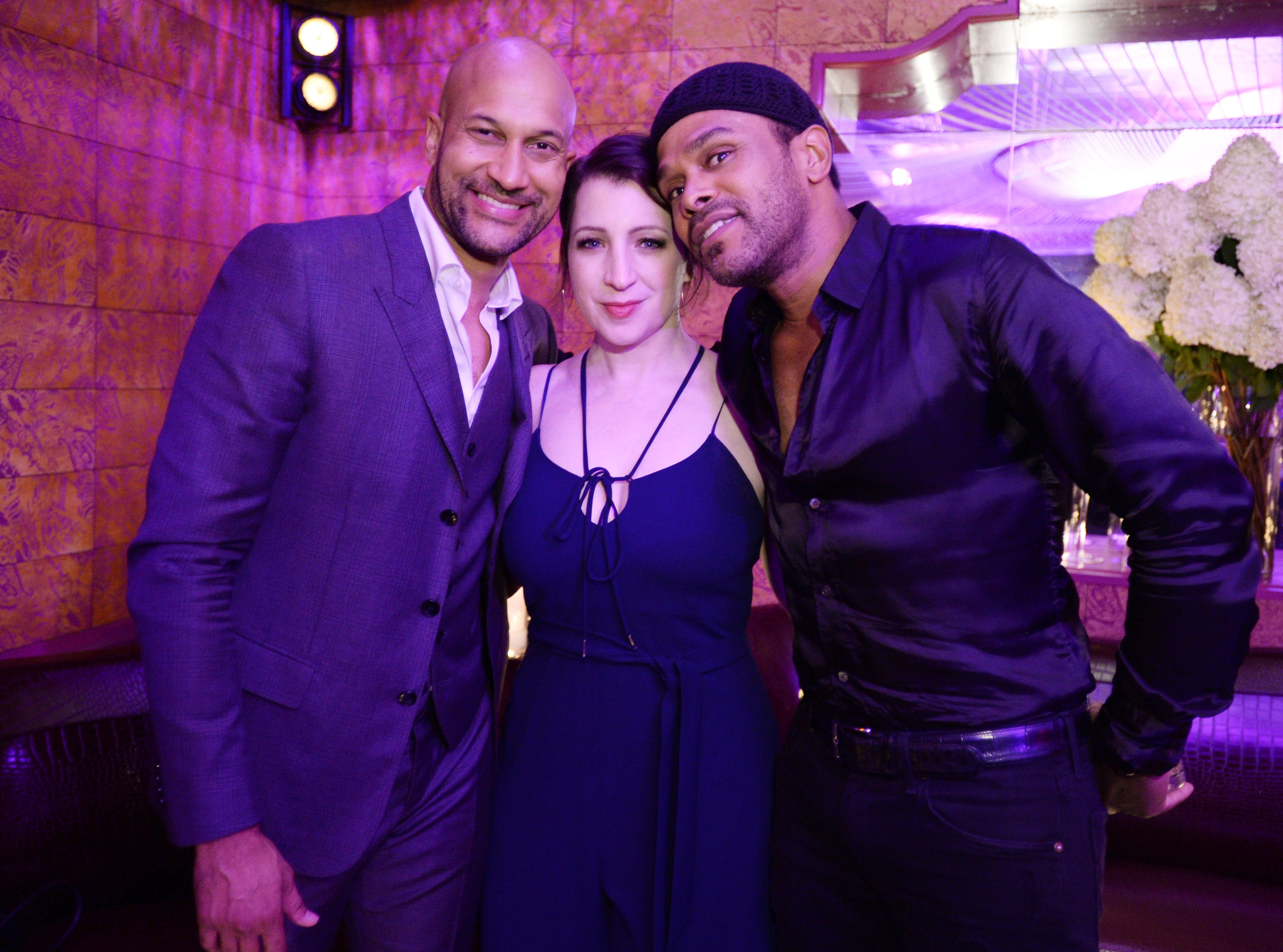 Keegan-Michael Key, Elisa Pugliese and Maxwell all took a photo together.