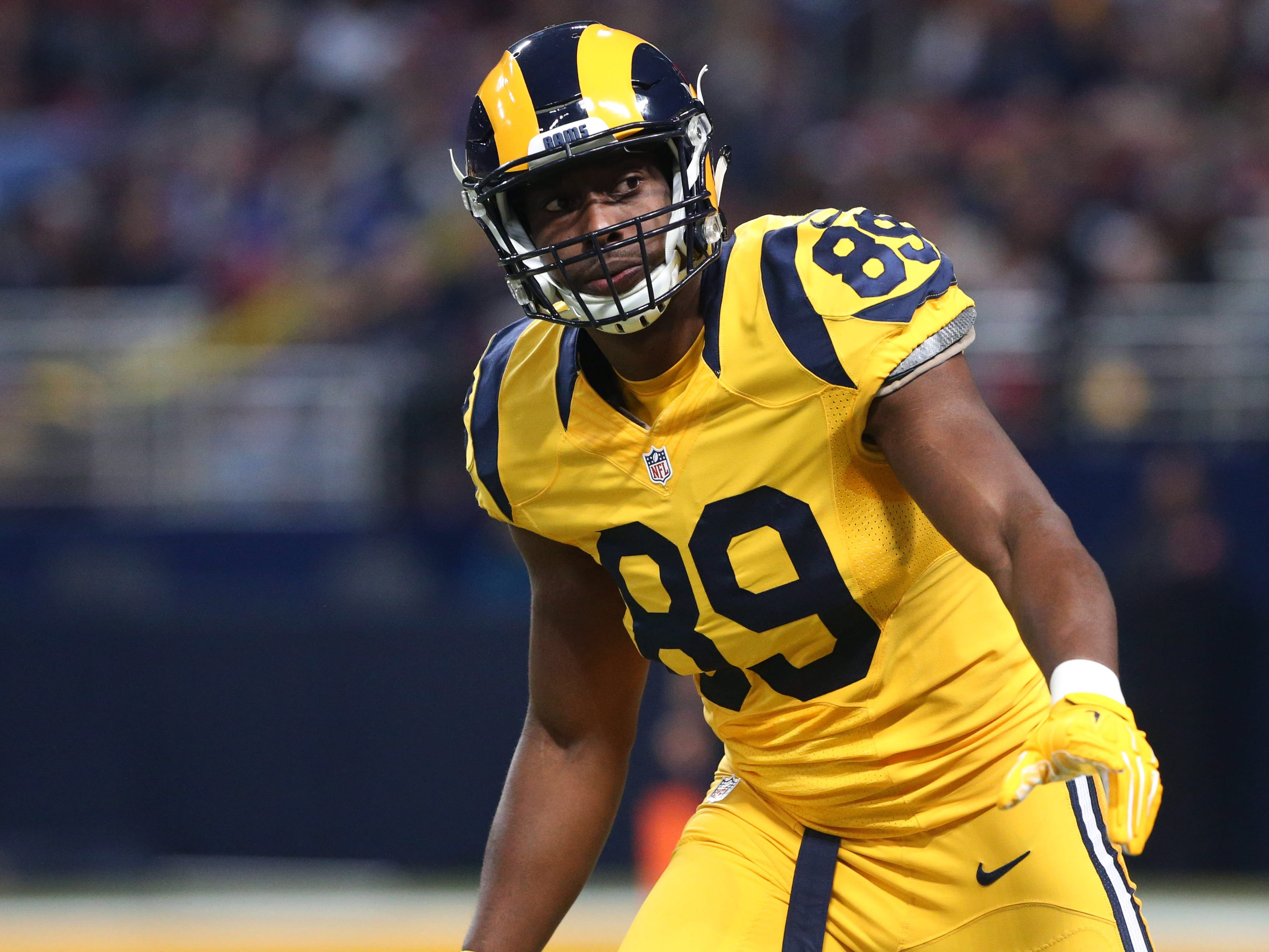 That's a whole lot of yellow in these 2015 Rams uniforms.