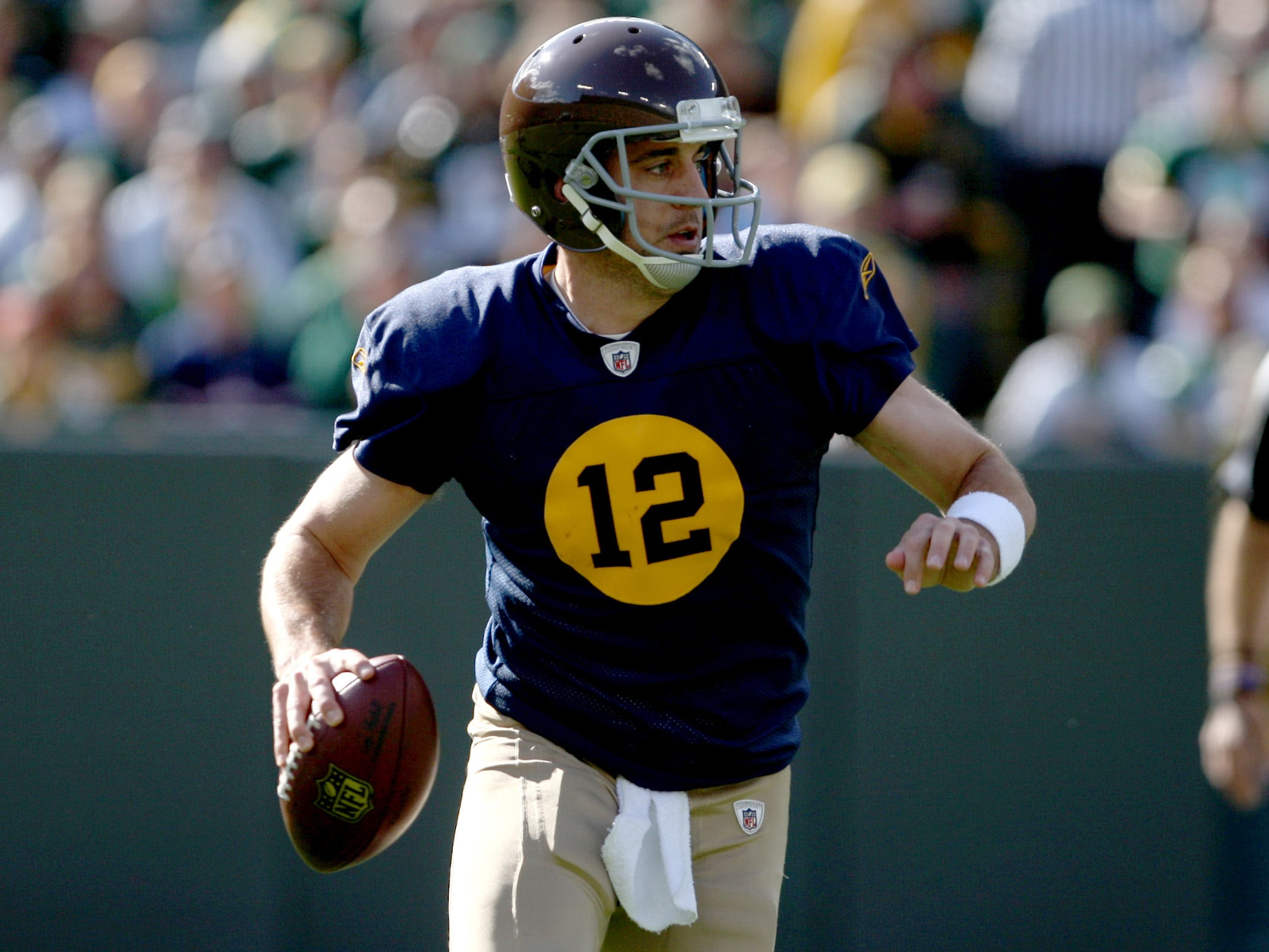 The storied Packers couldn't come up with a better design than having the number in a big circle on the chest? Really?