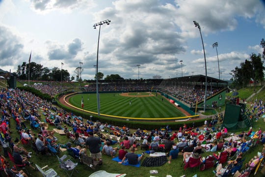 Aug 20: General view of Lamade Stadium during action between Iowa and Michigan at the Little League World Series.