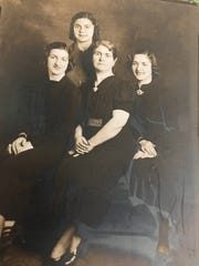 In their youth, Stella, left and Lula, right, with their mother between them and sister Georgia behind.
