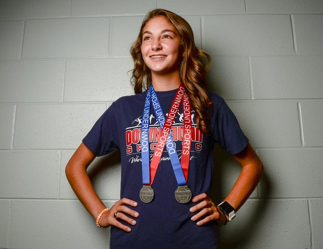 Morgan Roberts, a junior at Palmetto High School, won two silver medals in cross country events in Australia this summer.