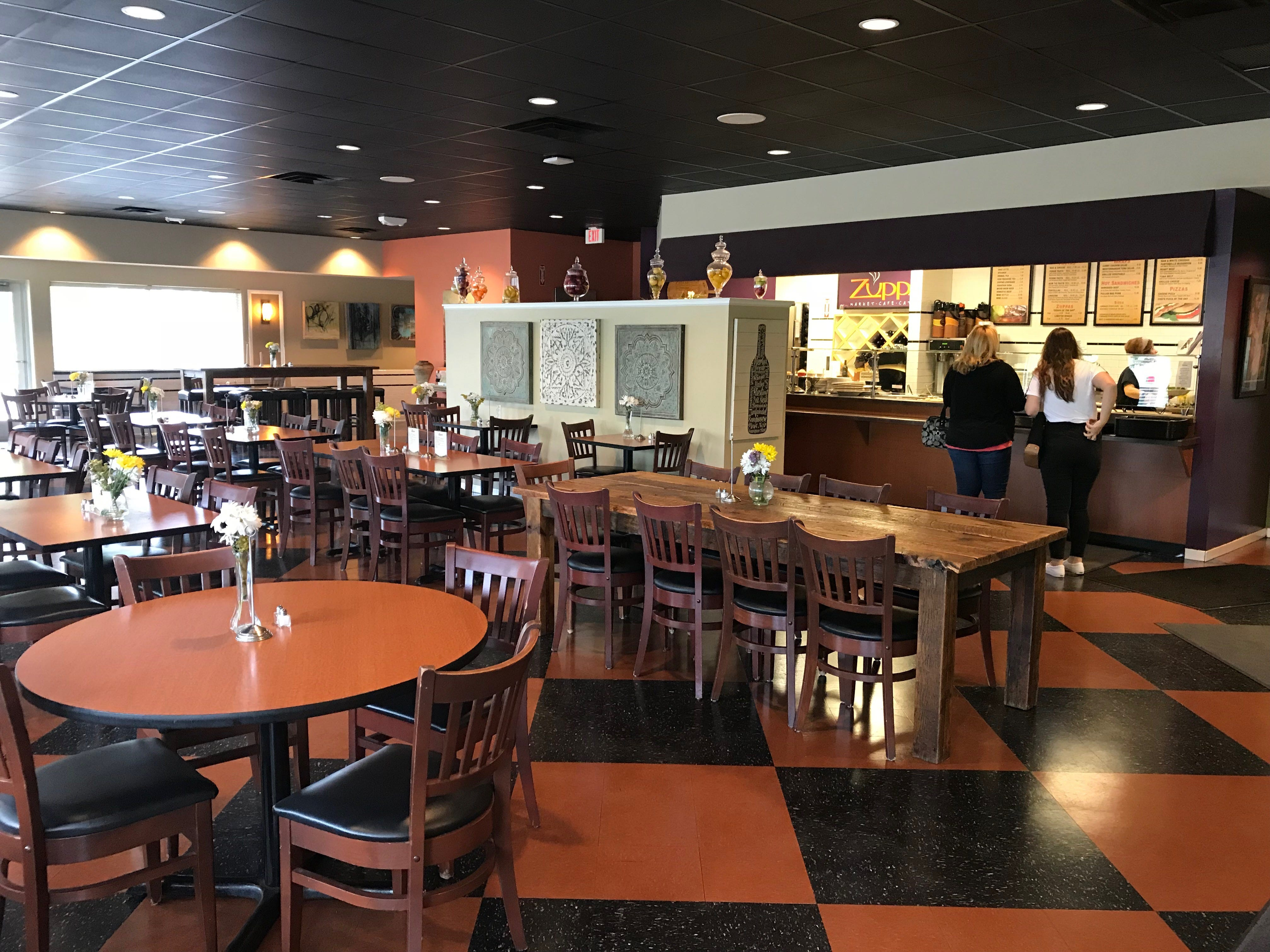 Zuppas prepares from scratch food but serves it fast casual style with cafeteria line of hot and cold options. Everything is available for carry out from the pasta salads to full meatloaf dinners and pans of lasagna and homemade soups.