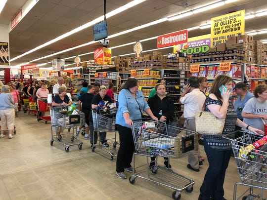 Opening day at Ollie's Bargain Outlet in Toms River.