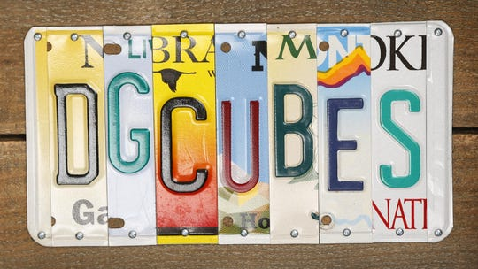 Daniel Goodman has a cubing YouTube page with more than 46,000 followers. His parents gave him this license plate as a graduation present.