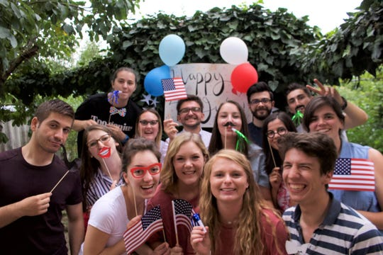 ACU students joined other Americans working at an orphanage in Romania during the summer for an impromptu Fourth of July celebration.